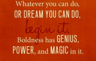 dream do boldness genius quote pic